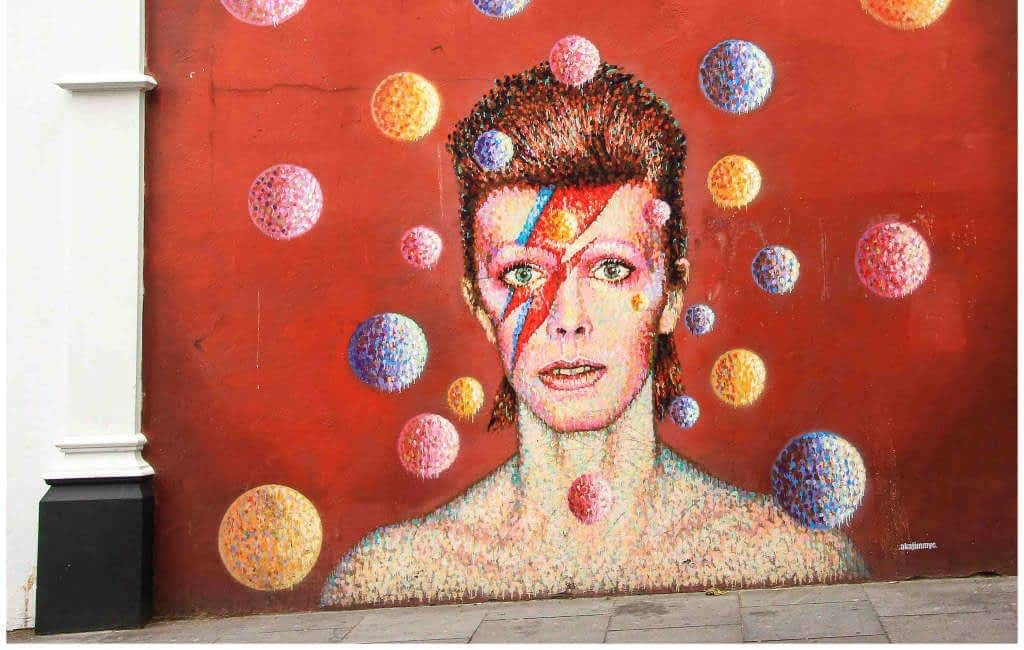David Bowie Mural Brixton Road