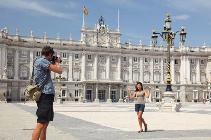 Girl at Plaza de Oriente Madrid
