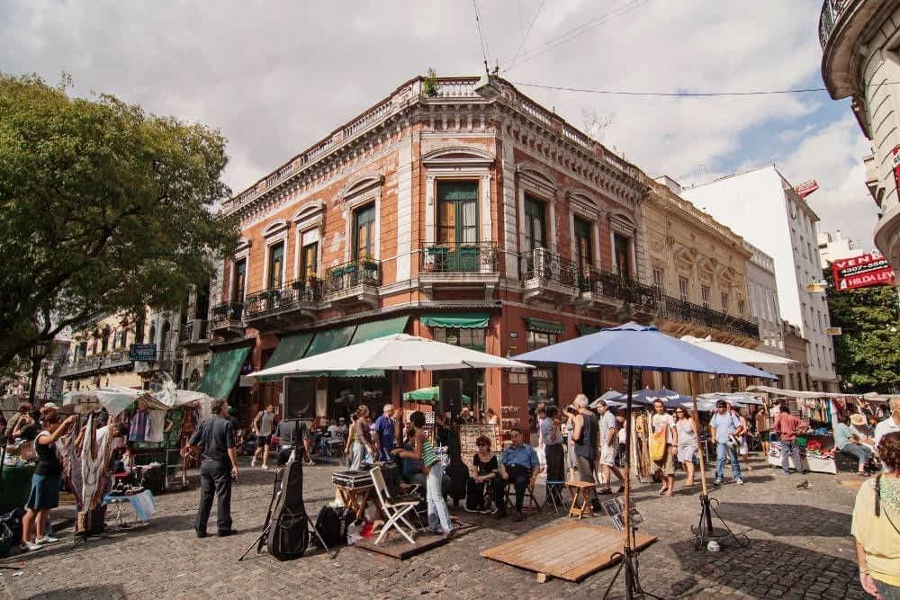 Outside San telmo Market