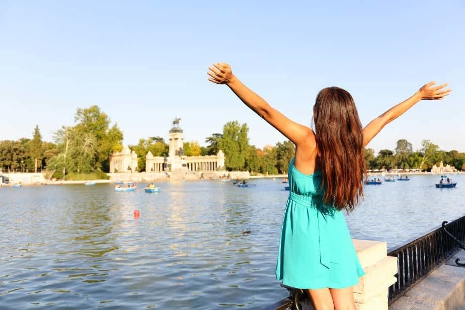 Girl at Retiro Park