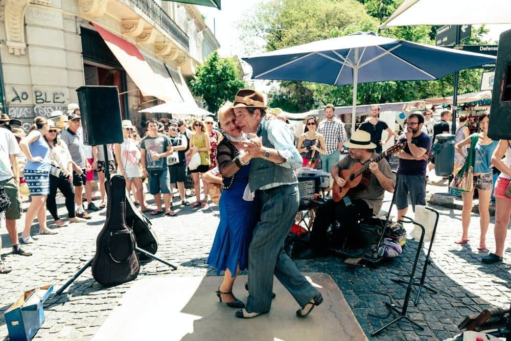 Couple Dancing in San Telmo
