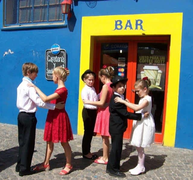 Children Dancing in Camanito Street