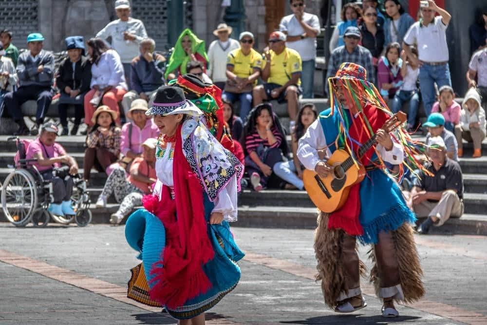 Traditional Dancer in Quito