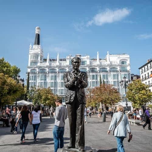 Lorca Statue in Santa Ana Square