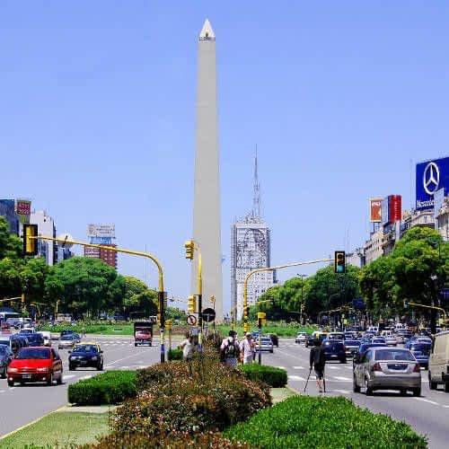 Avenida 9 de Julio y el Obelisco