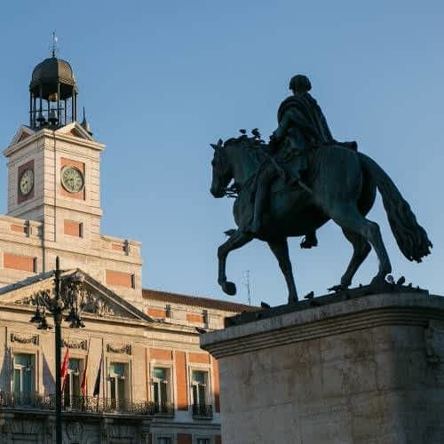 Puerta del Sol and Carlos the 3rd Statue