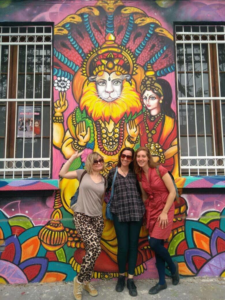 Mural in yungay Santiago