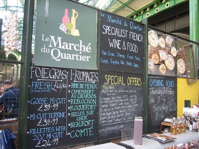 French Food Borough Market London