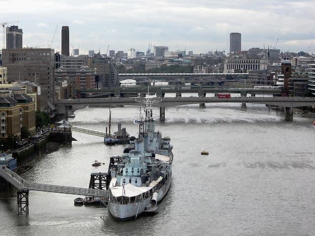 HMS Belfast  BOat