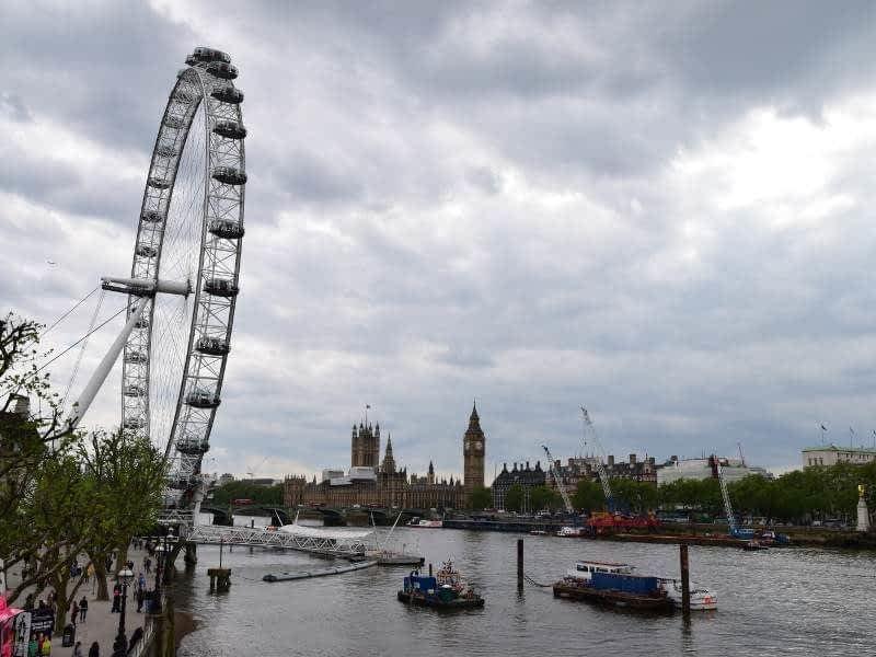 London Eye Side View