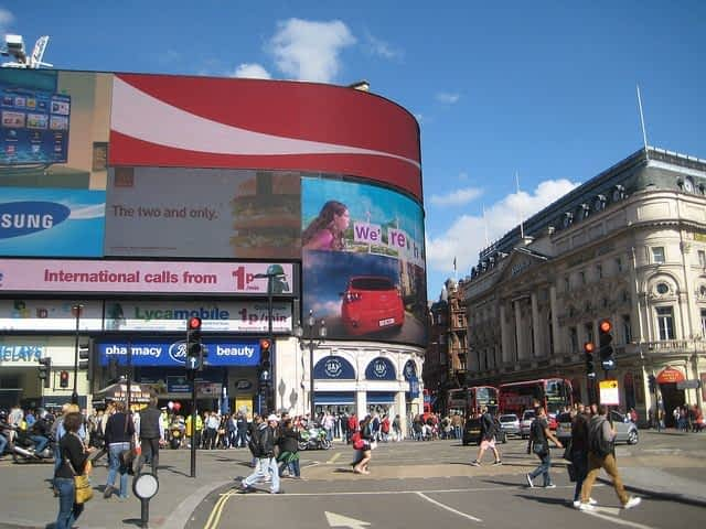 Piccadilly Circus day