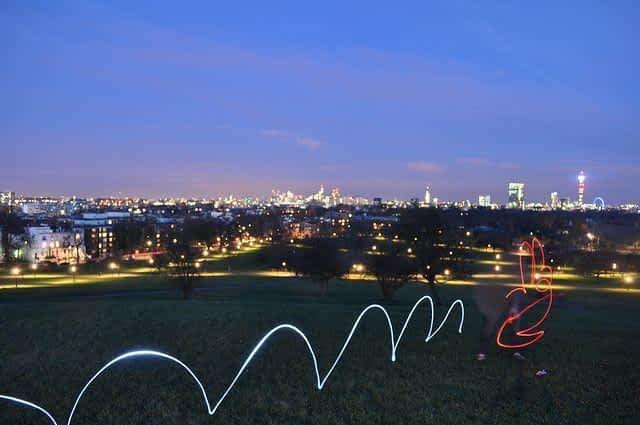 Primrose Hill  at Night