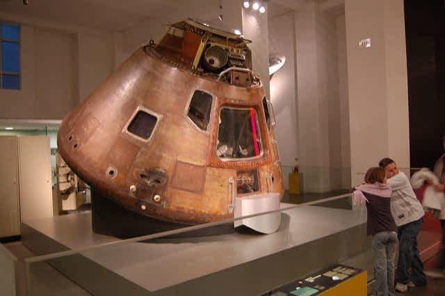 Apollo 10 lunar capsule Science museum London