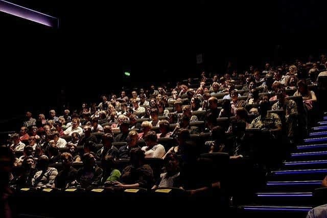 People in IMAX Theatre in Science Museum London