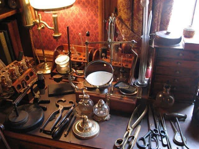 Sherlock Holmes Museum exhibit