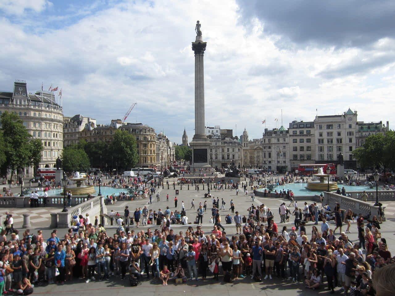 group photo Trafalgar Square