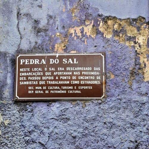 Placa Pedra do Sal